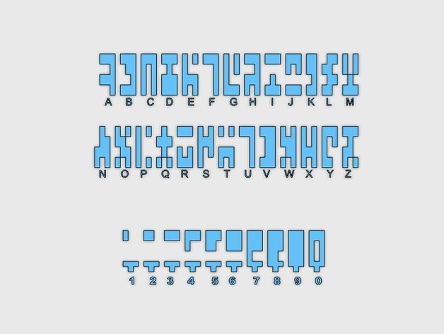 Ancient Alphabet From Stargate Sg 1 By Mixtec Thingiverse