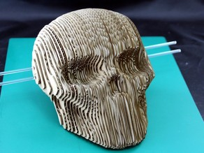 Corrugated Skull - Carton  Laser cutting