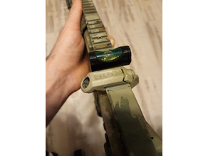 airsoft bubble level holder with picatinny mount