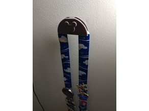 Disney Pin Lanyard Wall Mount