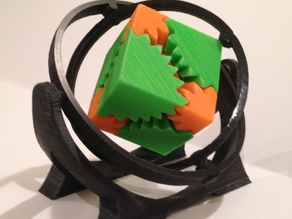 Gyroscopic Gimbal Mount for Emmett's Cube Gear