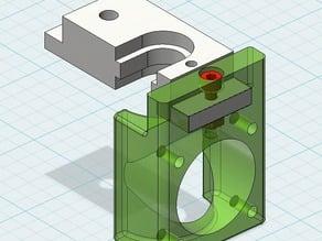 Fan mount for E3D v5 extruder on BulldogXL extruder