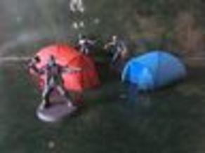 Tents Scatter terrain Scenery For Min War games Walking Dead all out war