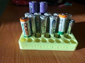 Battery holder (18650 - 4, AA - 14, AAA - 10)