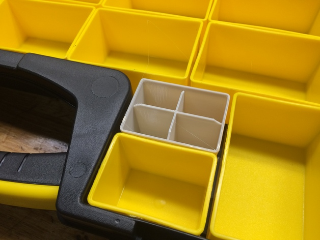 small parts bins for stanley 25removable compartment organizer by tinic thingiverse
