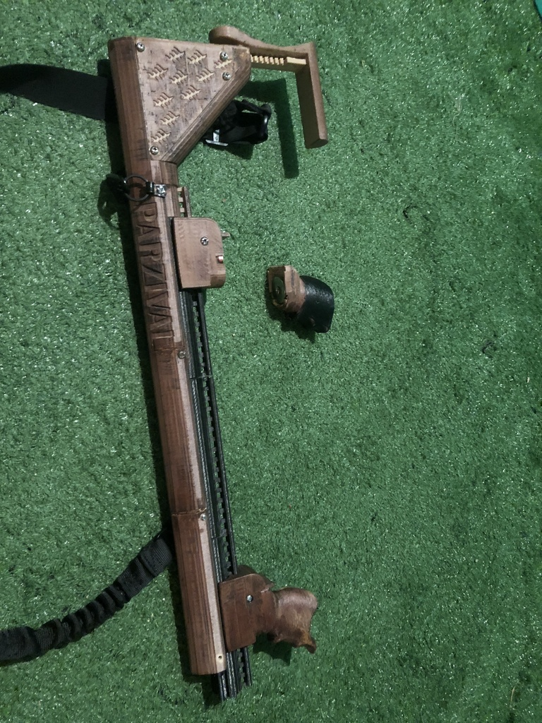 OCULUS RIFT VR GUN STOCK - MAGNETIC CUP, SPRING LOADED ADJUSTMENTS