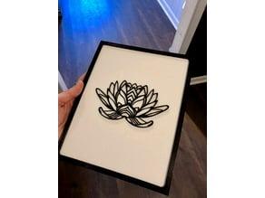 Lotus 2DArt w/Frame