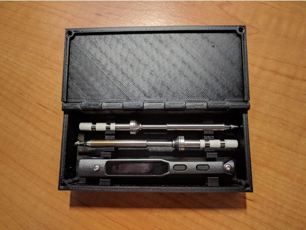 Case for TS100 Soldering Iron + 2 Tips by sharkytm - Thingiverse