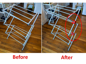 Foldable laundry drying rack repair kit