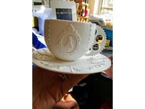 Steampunk Alice In Wonderland Tea Set