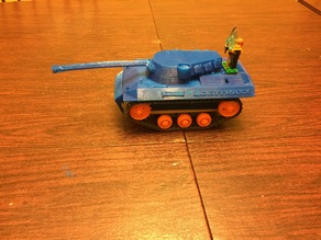 Tank Body Shell   to fit  Tamiya tracked vehicle kit.   Great kid project.