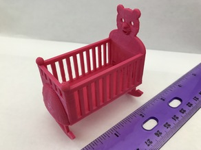 Dollhouse Rocking Cradle/Crib