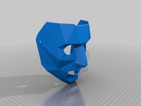 Low-Poly face mask large holes