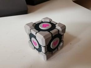 Multi-colour/Multi-material Companion Cube for MMU