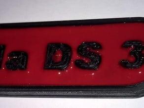 Porte-clefs Keychain Ds 3