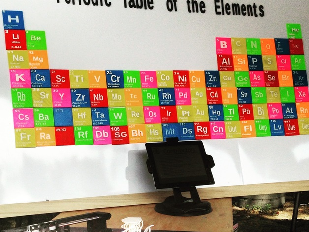 Periodic table of the elements by tfi3d thingiverse urtaz Images