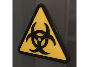 Biohazard Door Sign