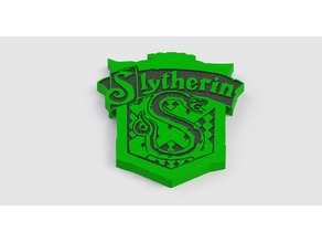 Slytherin House Crest (dual extrusion)