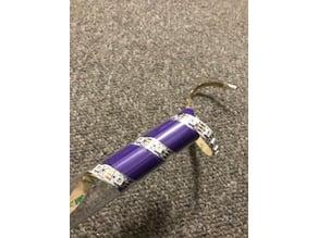 LED spiral 18650 battery holder