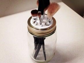 Mason Jar Make-up Brush Holder