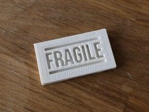Fragile stamp mold
