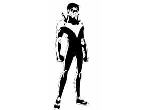 Nightwing stencil