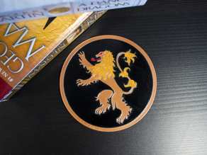 Multi-Color Game of Thrones Coaster - House Lannister