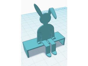 Bunny on a bench