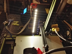 LED strip column and switch holder for Creality CR-10