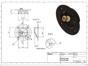 Binding post Round Plate