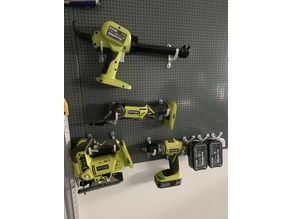 Biltema Pegboard(12mm spacing 4mm hole) Tool / Drill Mounts. Fits Ryobi and other brands.