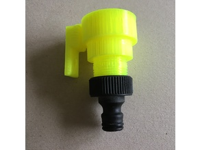 "Sprinkler with 3/4"" thread - no moving parts"