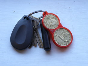 NZ dollar coin holder key fob