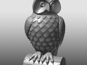 Owl Statue  Facing Left