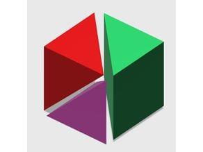 Liu Hui Cube Puzzle/Dissection (Qiandu, Yangma, Bie'nao)