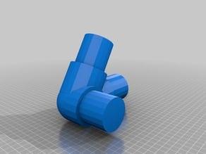 """PVC Three Way Connector (2"""" 60°)"""