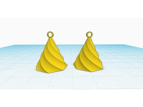 Simple earring designed in Tinkercad