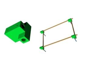 Square frame dowel rod jig