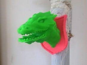 Slayed dragon magnet