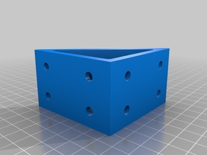 My Customized Right Angle Bracket for Aluminum Extrusion