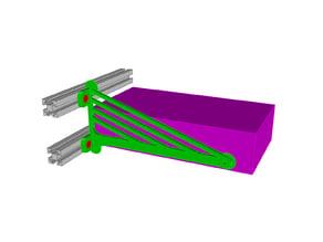 PSU Mount for Kossel 25000 Vertices