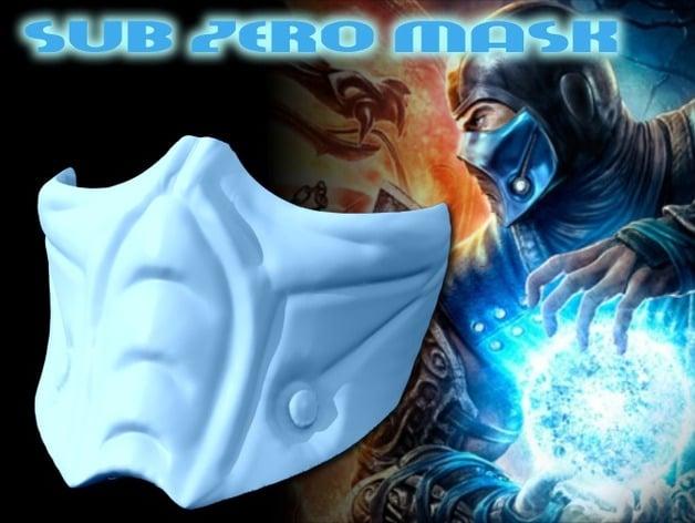 Sub Zero Mask Full Size Mortal Kombat By Geoffro Thingiverse