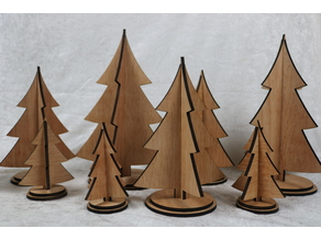 Laser Cut Christmas Trees