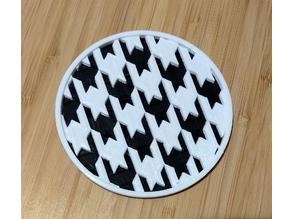 Houndstooth Coaster