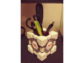 Companion Cube Pencil Holder