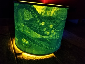 Octopus Lampshade Lithophane