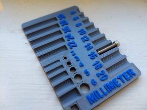 Screw and Bolt Sorter / Credit Card sized Measurement Tool ISO