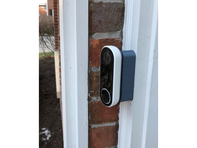 Comments For Nest Hello Video Doorbell Brackets By Angrycider Thingiverse