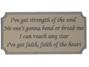 Faith of the Heart Plaque