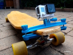 Longboard clamp for GoPro camera